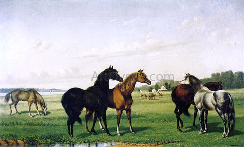 William Aiken Walker Horses in a Pasture - Hand Painted Oil Painting