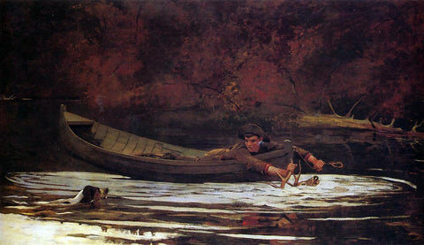 Winslow Homer Hound and Hunter - Hand Painted Oil Painting