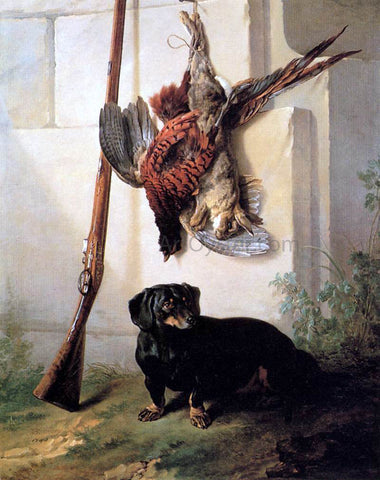 Jean-Baptiste Oudry Hound with Gun and Dead Game - Hand Painted Oil Painting