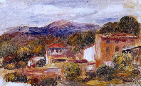 Pierre Auguste Renoir House and Trees with Foothills - Hand Painted Oil Painting
