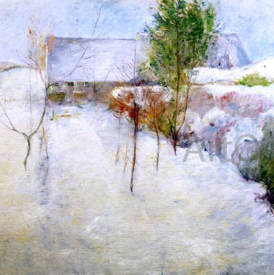 John Twachtman House in Snow - Hand Painted Oil Painting