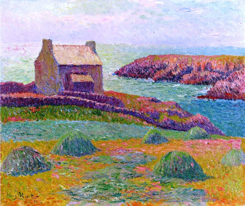 Henri Moret House on a Hill - Hand Painted Oil Painting