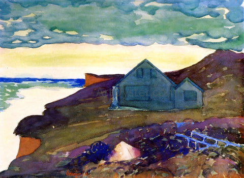 George Luks A House on the Point - Hand Painted Oil Painting