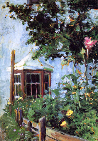 Egon Schiele House with a Bay Window in the Garden - Hand Painted Oil Painting