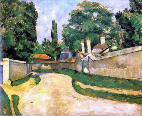 Paul Cezanne Houses along a Road - Hand Painted Oil Painting