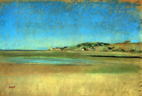 Edgar Degas Houses by the Seaside - Hand Painted Oil Painting