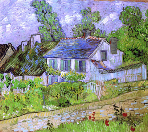 Vincent Van Gogh Houses in Auvers - Hand Painted Oil Painting