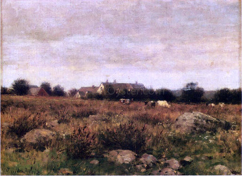 Julian Alden Weir Houses in Pasture - Hand Painted Oil Painting