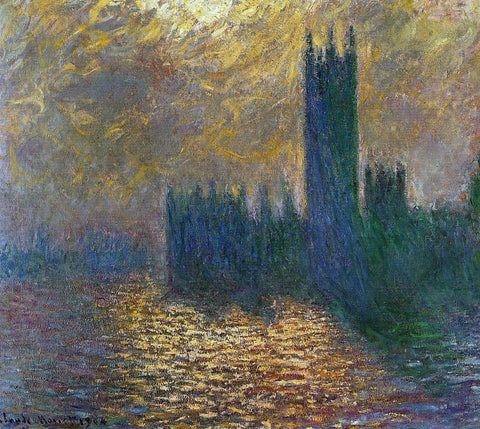Claude Oscar Monet Houses of Parliament, Stormy Sky - Hand Painted Oil Painting