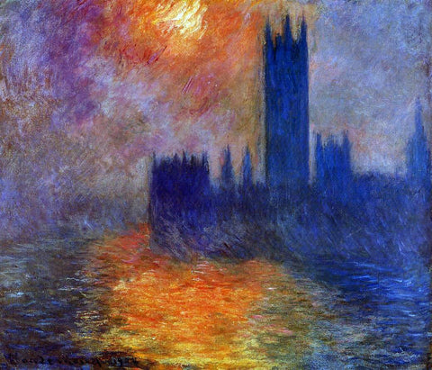 Claude Oscar Monet Houses of Parliament, Sunset - Hand Painted Oil Painting