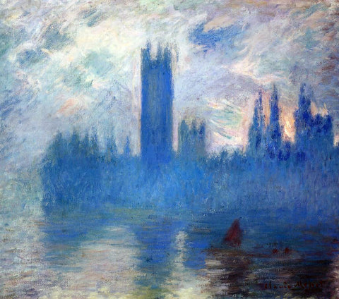 Claude Oscar Monet Houses of Parliament, Westminster - Hand Painted Oil Painting