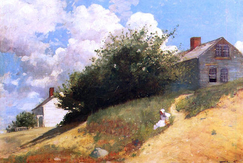 Winslow Homer Houses on a Hill - Hand Painted Oil Painting