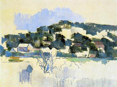 Paul Cezanne Houses on the Hill - Hand Painted Oil Painting