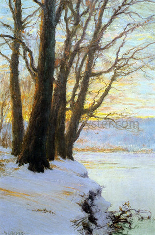 Walter Launt Palmer Hudson River Sunset - Hand Painted Oil Painting