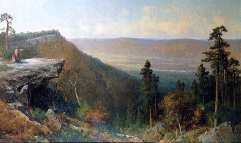 Thomas Hill Hudson River Valley from the Catskill Mountain House - Hand Painted Oil Painting