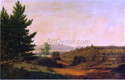 Sanford Robinson Gifford Hudson Valley Idyll - Hand Painted Oil Painting