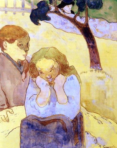 Paul Gauguin Human Misery - Hand Painted Oil Painting