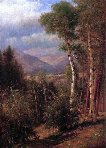 Thomas Worthington Whittredge Hunter in the Woods of Ashokan - Hand Painted Oil Painting