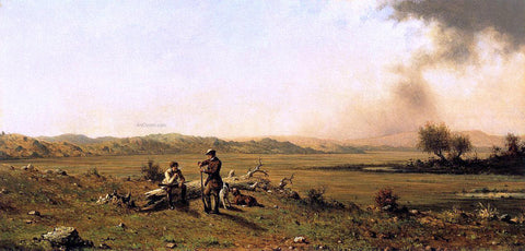Martin Johnson Heade Hunters Resting - Hand Painted Oil Painting