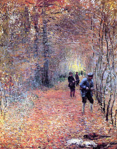 Claude Oscar Monet Hunting (also known as The Shoot) - Hand Painted Oil Painting