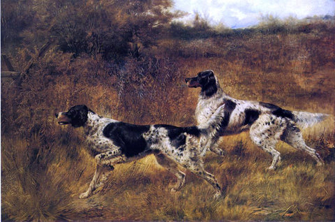 Edmond H Osthaus Hunting Dogs - Hand Painted Oil Painting