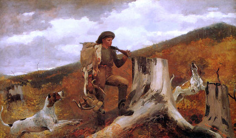 Winslow Homer Huntsman and Dogs - Hand Painted Oil Painting