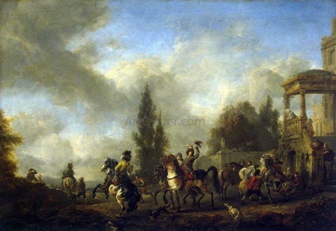 Philips Wouwerman Huntsmen Setting Out - Hand Painted Oil Painting