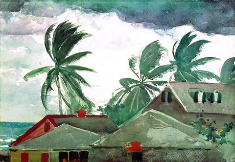 Winslow Homer Hurricane, Bahamas - Hand Painted Oil Painting