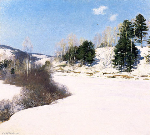 Willard Leroy Metcalf Hush of Winter - Hand Painted Oil Painting