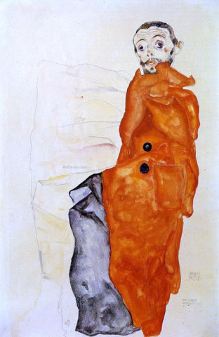 Egon Schiele I Love Antitheses - Hand Painted Oil Painting
