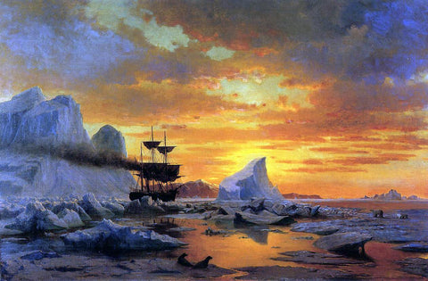 William Bradford Ice Dwellers, Watching the Invaders - Hand Painted Oil Painting