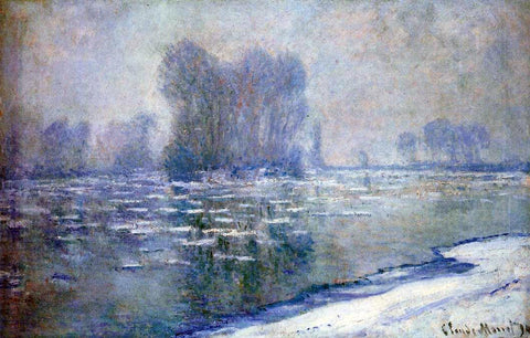 Claude Oscar Monet Ice Floes, Misty Morning - Hand Painted Oil Painting