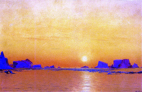William Bradford Ice Floes under the Midnight Sun - Hand Painted Oil Painting