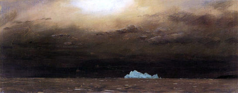 Frederic Edwin Church Iceberg, Newfoundland - Hand Painted Oil Painting
