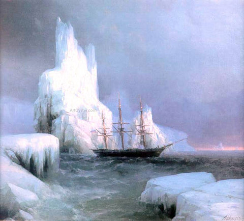 Ivan Constantinovich Aivazovsky Icebergs - Hand Painted Oil Painting