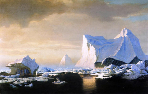 William Bradford Icebergs in the Arctic - Hand Painted Oil Painting