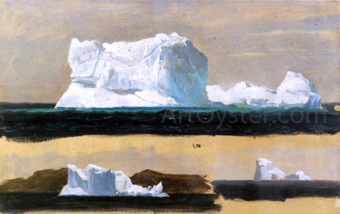 Frederic Edwin Church Icebergs, Twillingate, Newfoundland - Hand Painted Oil Painting