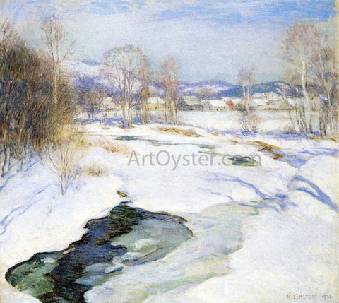 Willard Leroy Metcalf Icebound Brook (also known as Winter's Mantle) - Hand Painted Oil Painting