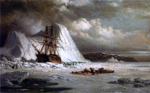 William Bradford Icebound Ship - Hand Painted Oil Painting