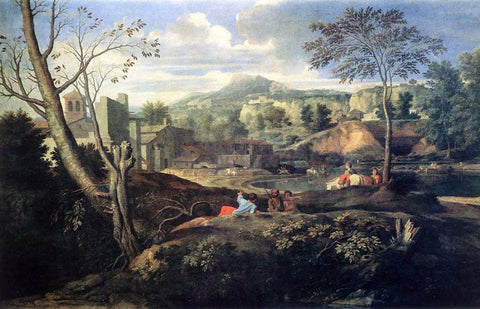 Nicolas Poussin Ideal Landscape - Hand Painted Oil Painting