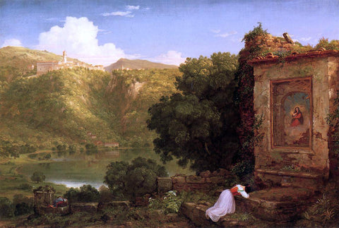 Thomas Cole Il Pensaro - Hand Painted Oil Painting