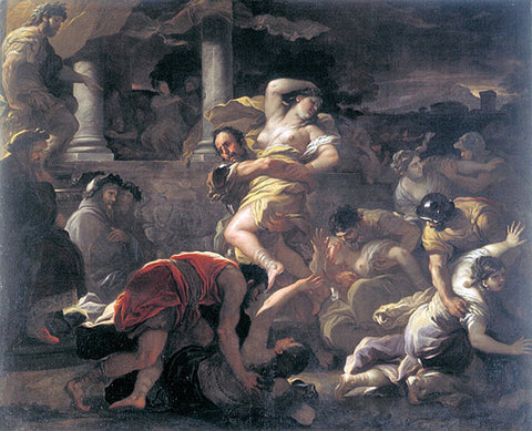 Luca Giordano Il ratto delle Sabine - Hand Painted Oil Painting