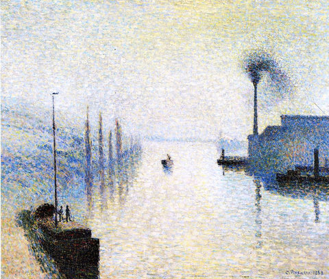 Camille Pissarro Ile Lacruix, Rouen: Effect of Fog - Hand Painted Oil Painting