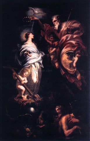 Domenico Piola Immaculate Conception - Hand Painted Oil Painting