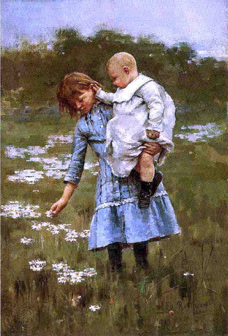 Theodore Robinson In a Daisy Field - Hand Painted Oil Painting