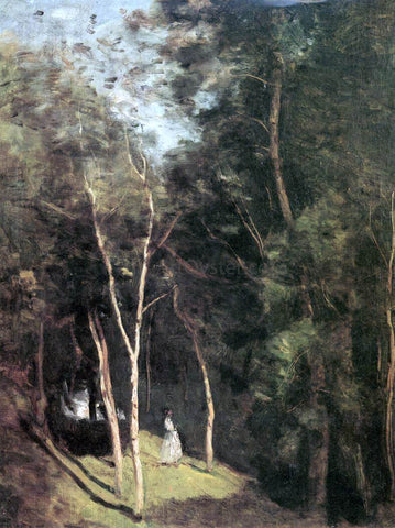 Jean-Baptiste-Camille Corot In a Park - Hand Painted Oil Painting