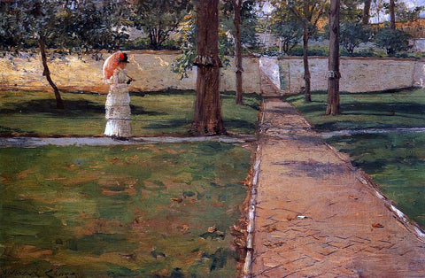 William Merritt Chase In Brooklyn Navy Yard - Hand Painted Oil Painting