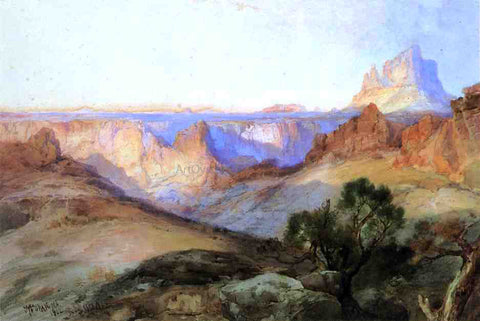 Thomas Moran In Southern Utah - Hand Painted Oil Painting