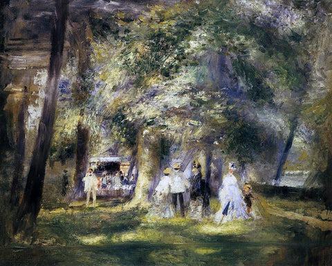 Pierre Auguste Renoir In St Cloud Park - Hand Painted Oil Painting