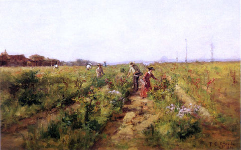 Theodore Clement Steele In the Berry Field - Hand Painted Oil Painting